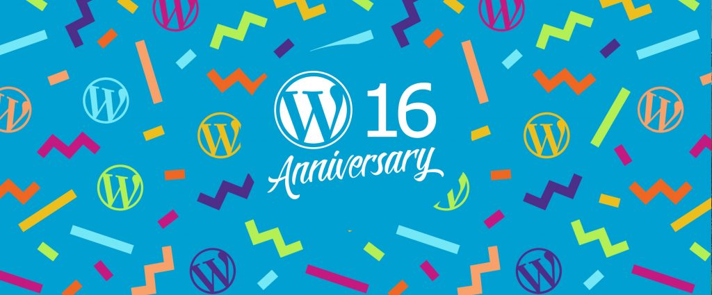 WordPress 16 birthday